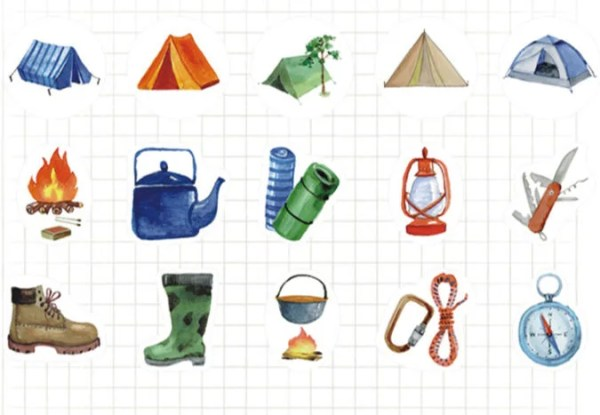 Camping cut outs Etsy