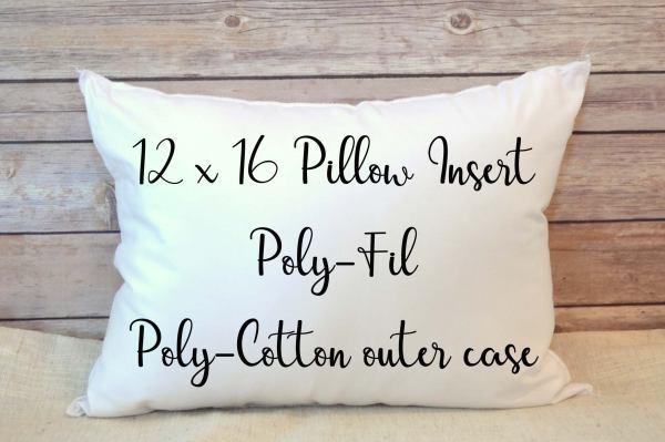Pillow Insert Stuffing 12x16 Poly Fil 12 X 16