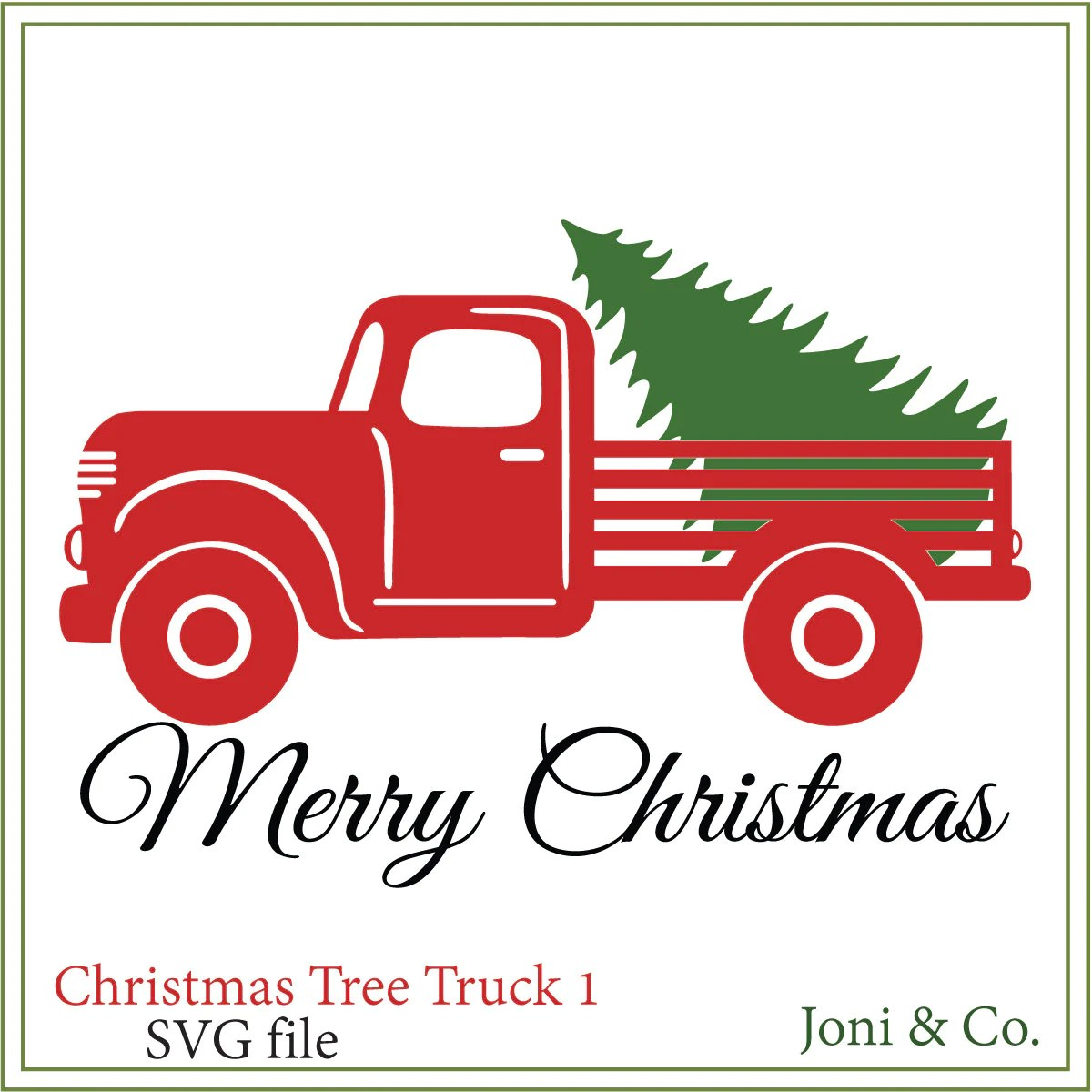 Old Truck With Christmas Tree.Christmas Tree Old Truck Coloring Page