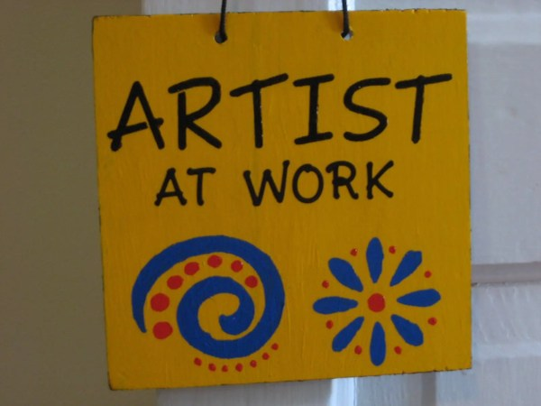Artist Work And Art Studio Sign Show Door Hanger