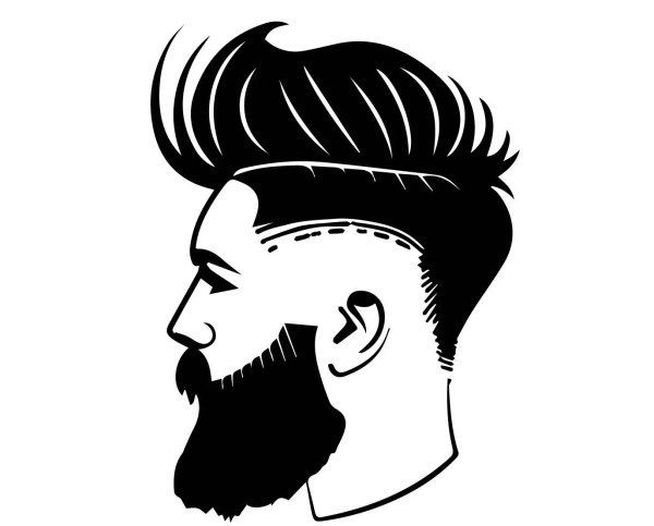 Corte De Pelo Peluquer Moda Estilo Guapo Barba Bigote