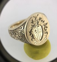 Signet Ring Custom Mens Signet Ring Gold Signet Ring Coat
