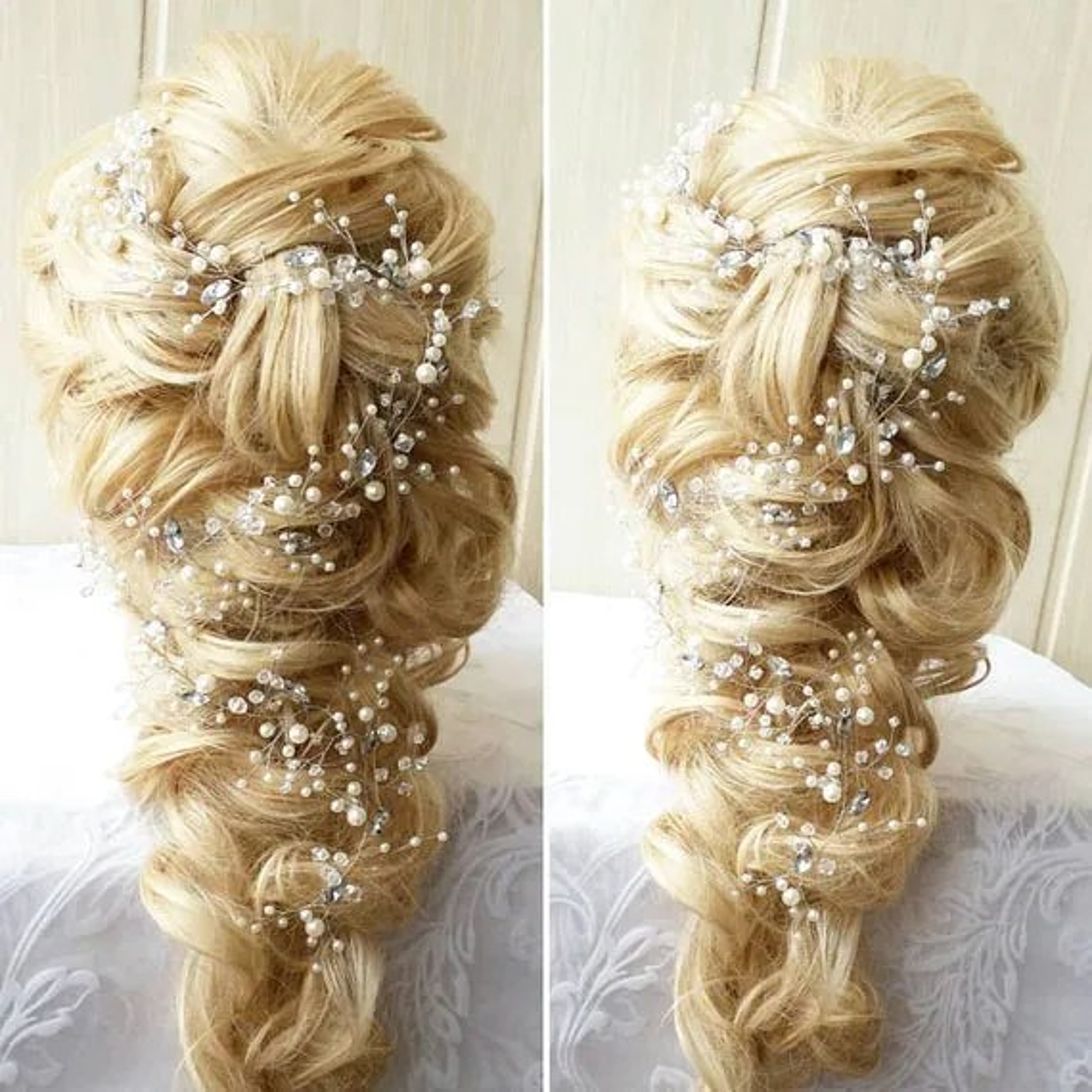 FREE SHIPPINGLove Long hair vineBridal hair vineCrystals
