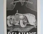 Art Deco print, Delahaye ...