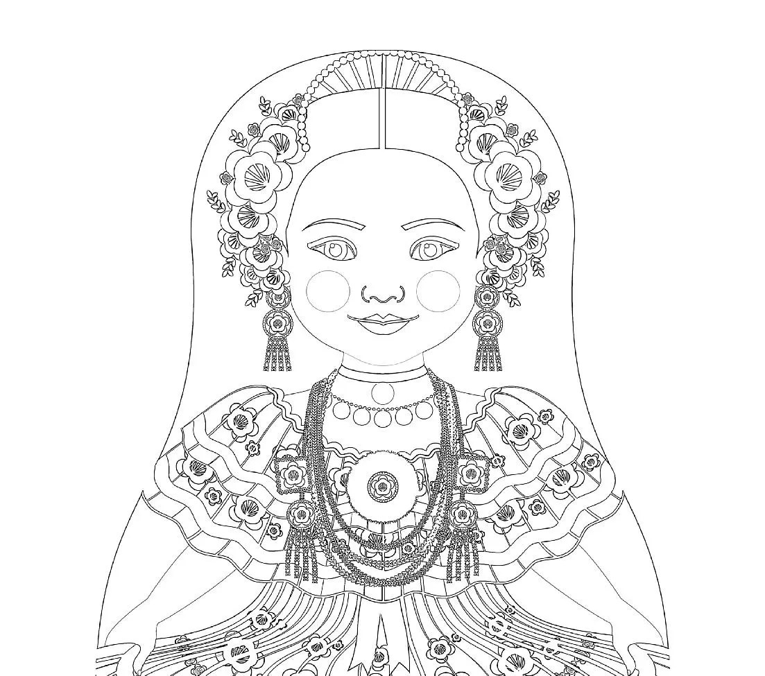 Panamain Molas Colouring Pages Sketch Coloring Page