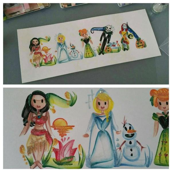 Custom Disney Inspired Princess Painting Art