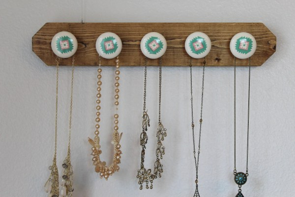 Wall Hanging Necklace Holder Mount Organizer