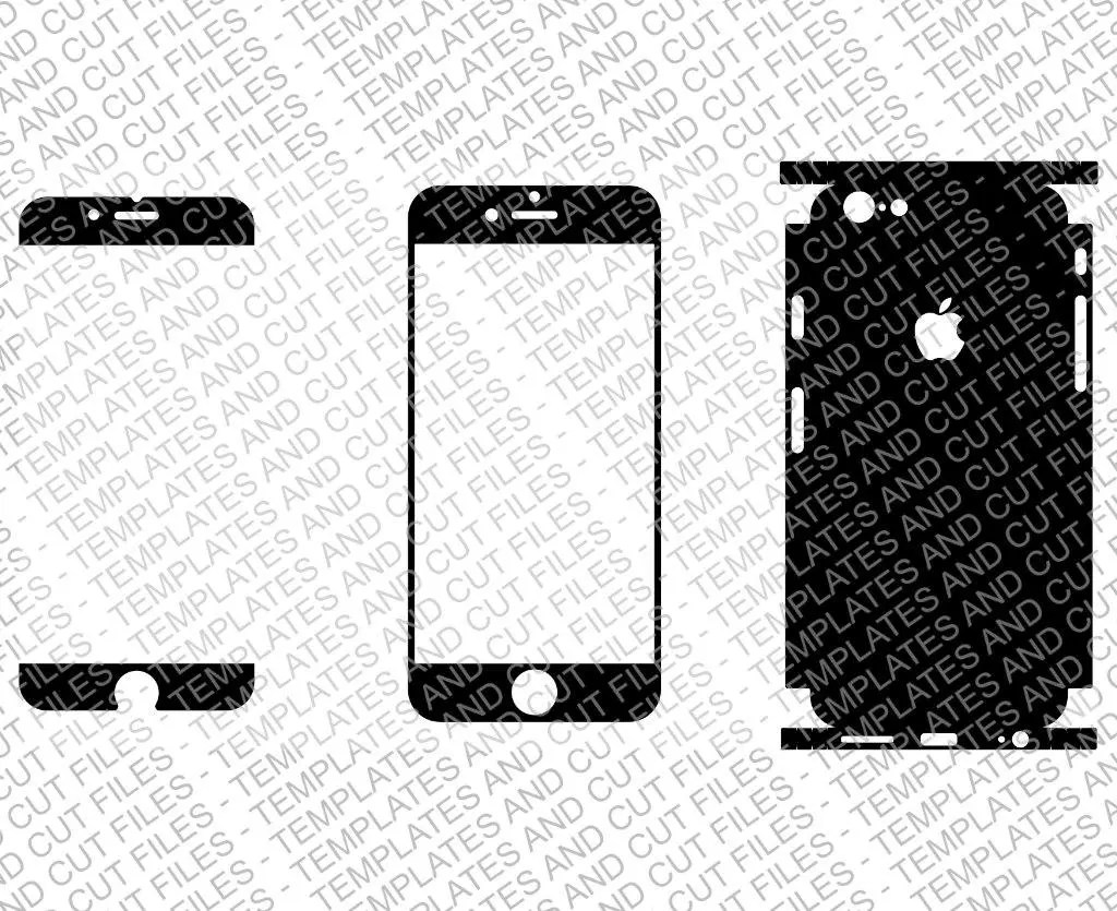 Iphone 4 or 4s Skin template for cutting or machining