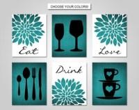 Kitchen utensil art | Etsy