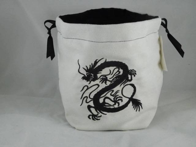Black Chinese Dragon embr...