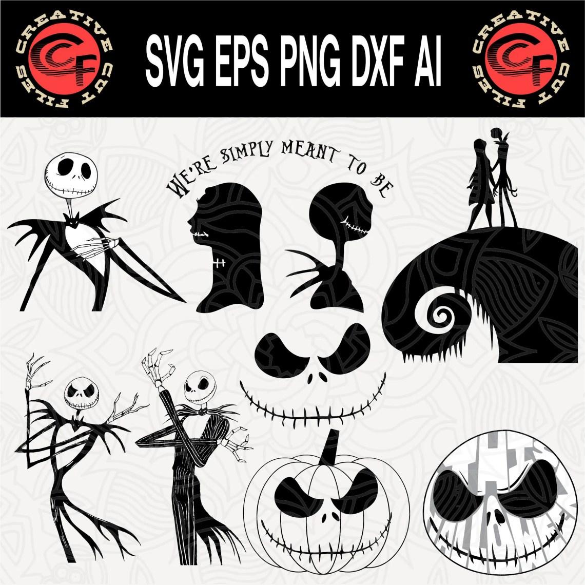 Download Nightmare Before Christmas svg Jack Skellington svg Disney