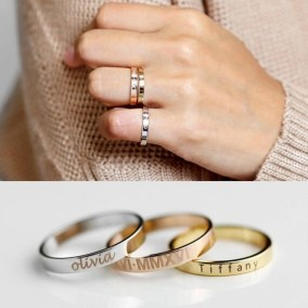 Custom-stamped rings by Mignon and Mignon