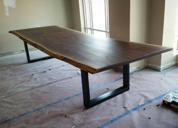 Black Walnut Live Edge Conference Table