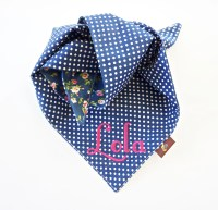 Monogrammed Pet Bandanas, Personalized Embroidered Dog and