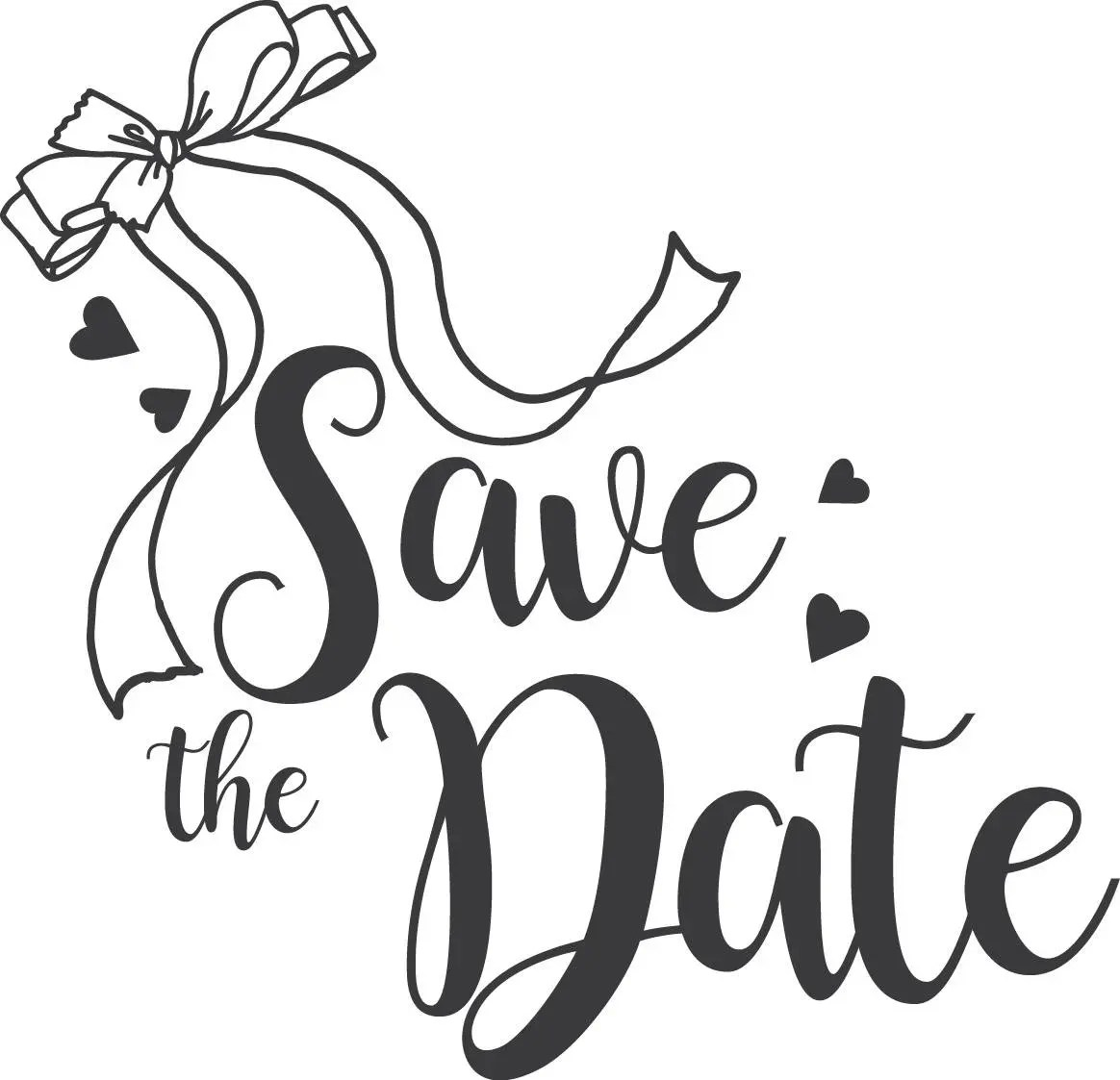 Save The Date Svg Clipart Wedding Annuncment Save The