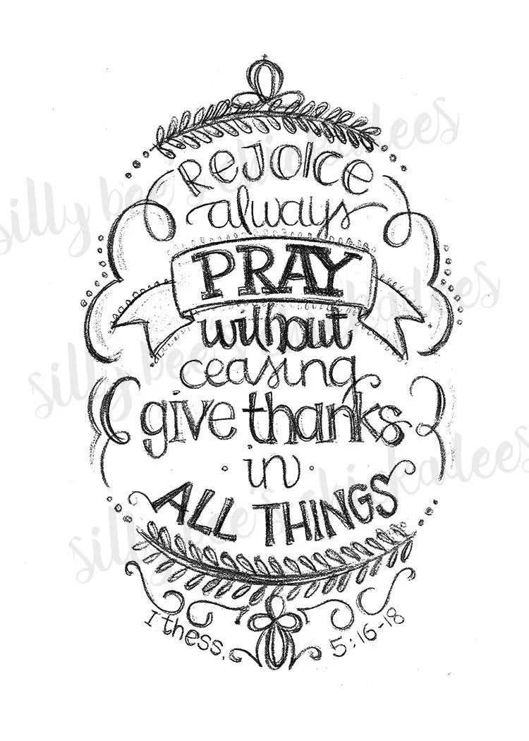 Rejoice Pray Give Thanks coloring page