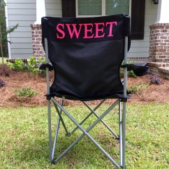 Folding Chair Embroidered High Argos Monogrammed Camping Personalized Gifts