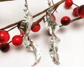 Large Leaf Silver Earring...