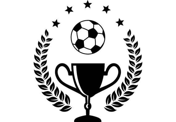 Soccer Logo #3 Trophy Kick Ball Net Goal Futball Field