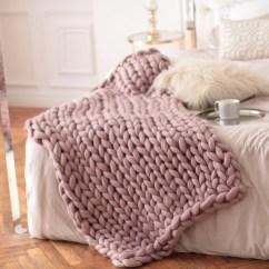 Pink Sofa Throw Dry Cleaners In East Delhi Wool Hugs Dusty Chunky Knit Blanket