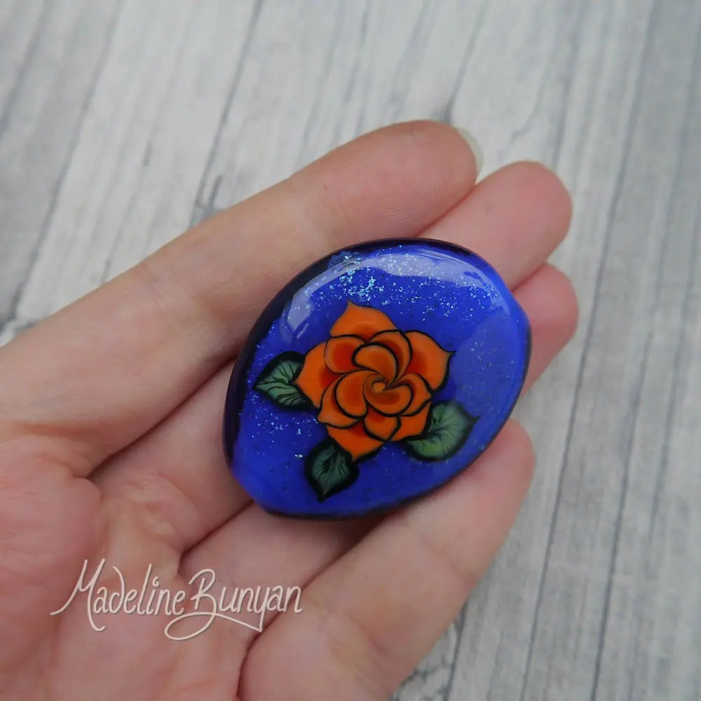 OrangeTattoo Style Rose o...