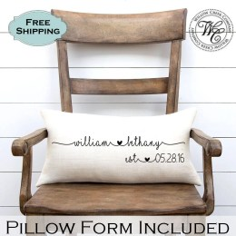 Burlap Pillow - Willow Creek Company - Etsy