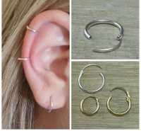 Cartilage hoop Small hoop earrings Gold hoop earrings