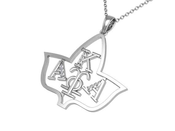 Alpha Kappa Alpha Sterling Silver Pendant AKA-P012