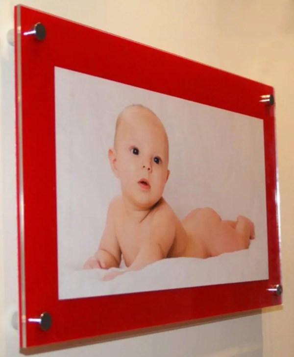 Red Cheshire Acrylic Perspex Plexiglas Floating