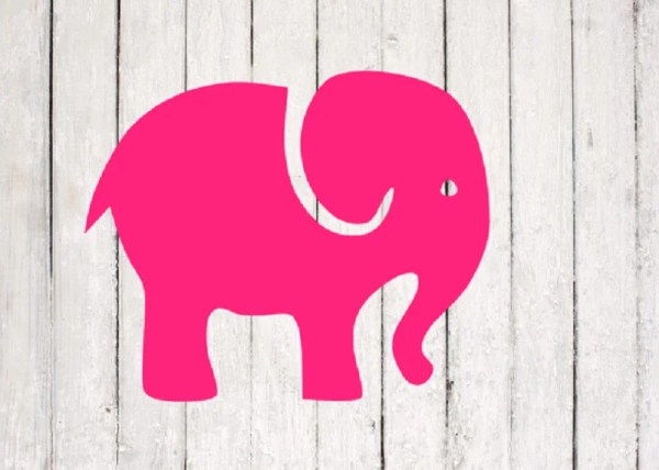 elephant svg file cute animal clipart