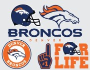 broncos football svg