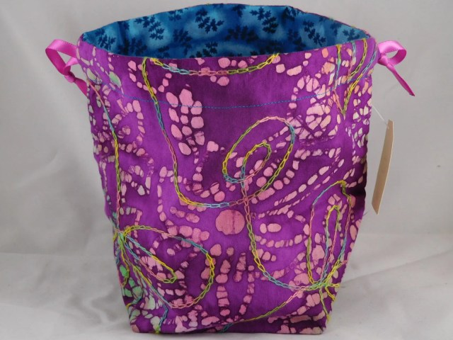 Purple Batik with multi c...