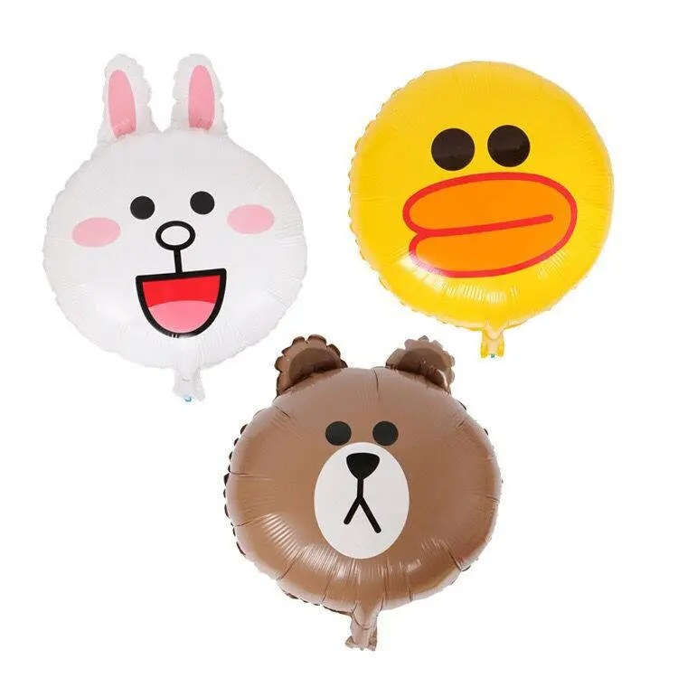 3 Line friends aluminum balloons Brown Sally and Connie