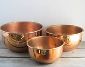 Copper nesting bowls by C...
