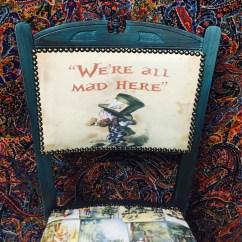 Alice In Wonderland Chair Wooden Toddler Furniture Matallic Blue Childs