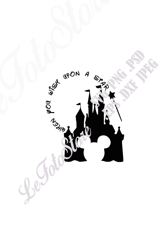 When you wish upon a star svg castle design magic vector