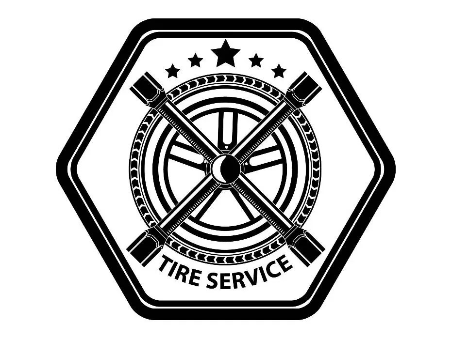 Mechanic Logo #26 Tire Wheel Rim Auto Car Part Biker