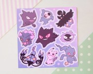 "Ghost 5.5x5.5"" Vinyl Sticker Sheet"