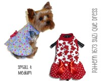 Suzi Que Dog Dress Pattern 1673 Small & Medium Dog Clothes