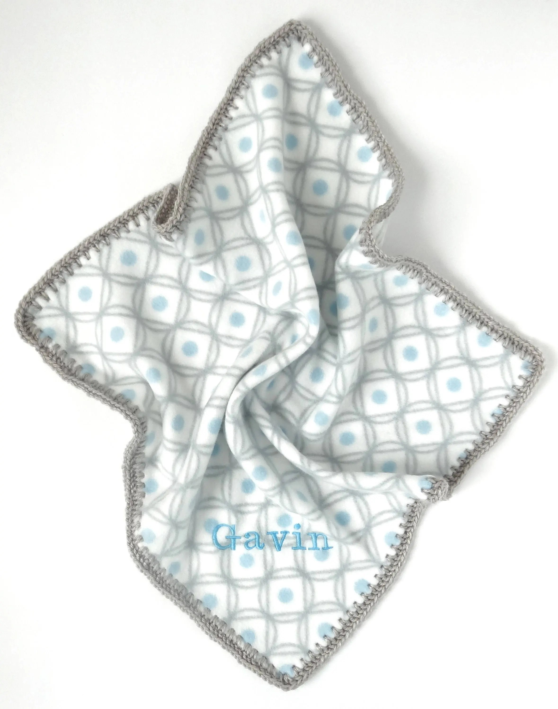 Fleece Lovey Blanket Baby Boy Lovey Security Blanket Car