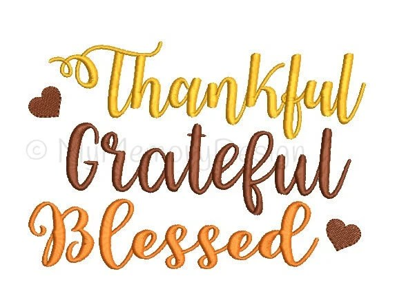 thankful grateful blessed embroidery