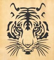 tiger svg head of