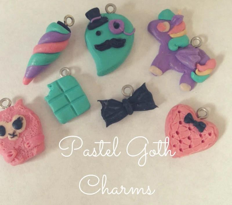 Pastel Goth Charms // Set...