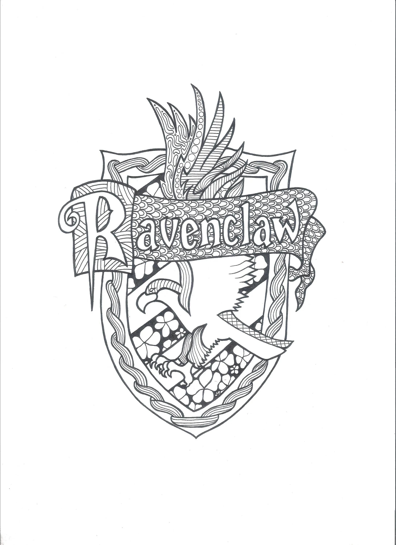 Hogwarts Crest Coloring Page Harry Potter Pinterest Epicgaming