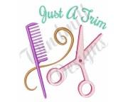 hair stylist machine embroidery