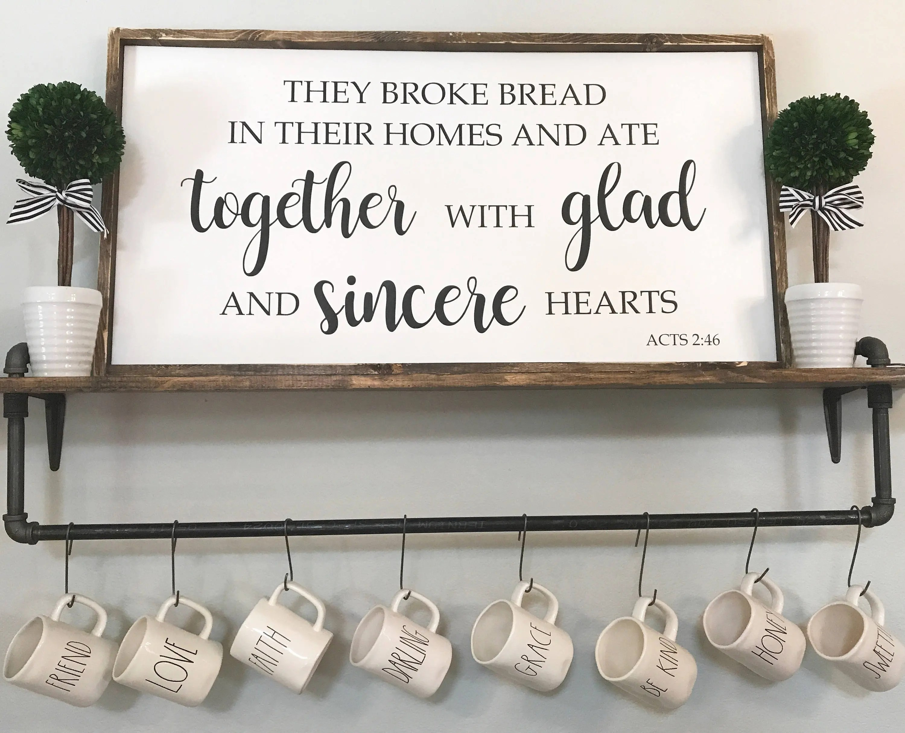 They Broke Bread In Their Homes And Ate With Glad And Sincere