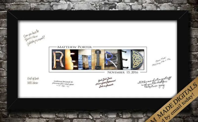 Personalized Retirement Gifts Digital Retirement Printables