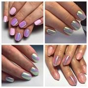 rainbow mermaid unicorn nail art