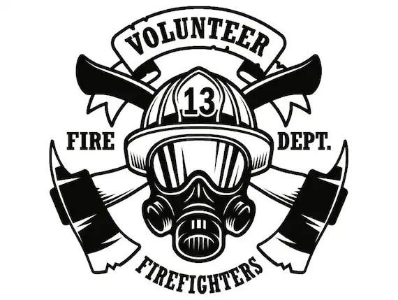 Firefighter Logo #9 Firefighting Rescue Volunteer Axe