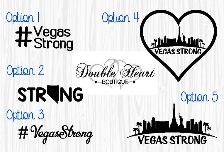 Vegas Strong/ VegasStrong/ Las Vegas Car Decal/ Vegas Strong